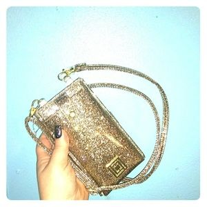 Liz Claiborne Gold RFID Cell Charger Clutch